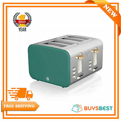 £59.95 • Buy Swan 4 Slice Nordic Toaster 1500W Soft Touch Housing Stainless Steel ST14620GREN