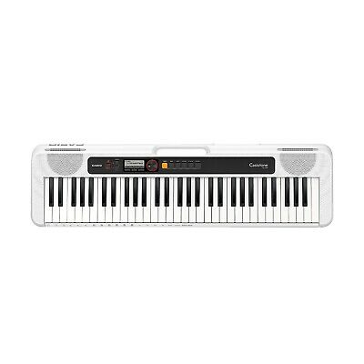 $106 • Buy Casio CT-S200 Casiotone Portable Battery Powered 61-Key Keyboard White (B-STOCK)