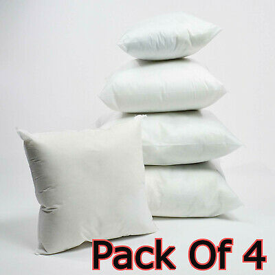Pack Of 4 Extra Deep Filed All Sizes Cushion Pads Inserts Fillers Scatters • 9.32£