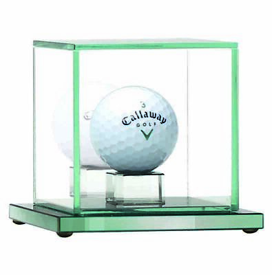 GOLF BALL DISPLAY TROPHY AWARD JADE GLASS  10CM (Ball Not Included) • 22.99£