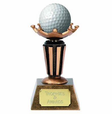 GOLF BALL DISPLAY HOLDER TROPHY FREE ENGRAVING 9.5CM (Ball Not Included) • 15.99£