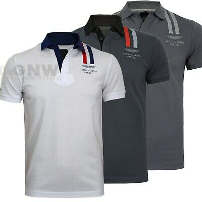 HACKETT MEN ASTON MARTIN RACING VERTICAL STRIPE POLO T SHIRT/TEE Slim Fit NEW • 56.99£