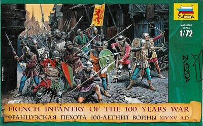 Zvezda Toy Soldiers. 8053. French Infantry Of The 100 Years War. 1/72 Scale. • 6.51£