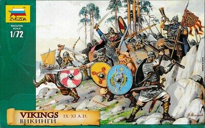 Zvezda Toy Soldiers. 8046. Vikings. IX-XI A.D. 1/72 Scale. • 7.23£