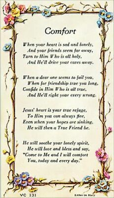 Words Of Comfort  Prayer Card In Pvc Wallet Size - Catholic / Christianity  • 1.99£