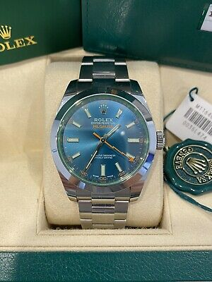 AU11999 • Buy Rolex 116400GV Milgauss Z-blue Dial / Green Glass