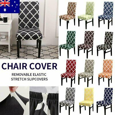 AU14.99 • Buy Stretch Dining Chair Cover Removable Slipcover Home Banquet Furniture Covers AU