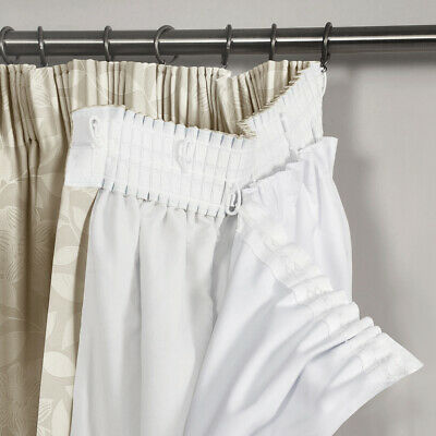 £23.95 • Buy Thermal Blackout White Curtain Linings Pair Of 3 Pass Pleated Tape Top - Shaws