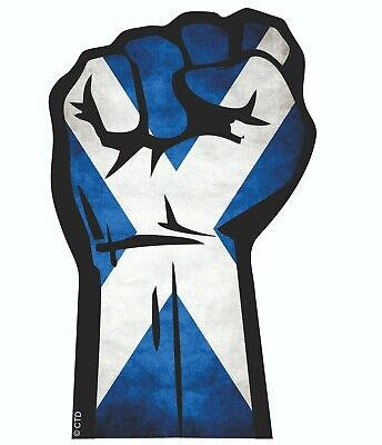 Solidarity Fist & Scotland Scottish Flag Car Sticker Decal Independence 132x82mm • 2.49£