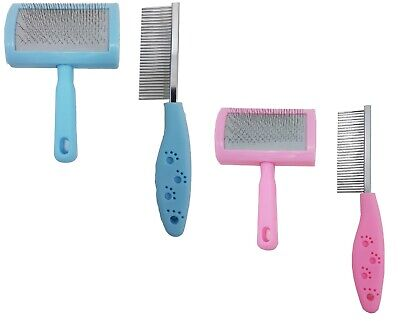 £7.95 • Buy Value Pack Pet Grooming Slicker Brush And Rake Comb For Pet Dog Puppy Cat Rabbit