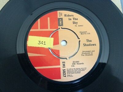 The Shadows - Riders In The Sky 7  Vinyl Single Record • 2.09£