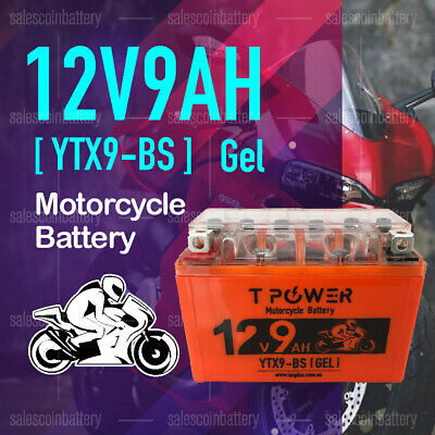 AU41.85 • Buy 12v 9Ah YTX9-BS Motorbike GEL Battery Dirt Bike ATV Quad Scooter Gokart Mower