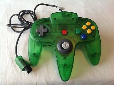 AU55 • Buy N64 Clear Lime Green Controller Genuine Used