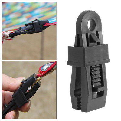 4Pcs Camping Awning Tent Pole Corner Connector Buckle Fixing Clamp Clip Tool Set • 2.36£