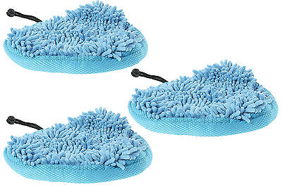 3x Vax Delta Steam Mop Hard Floor Microfibre Cleaning Pads Covers • 12.59£