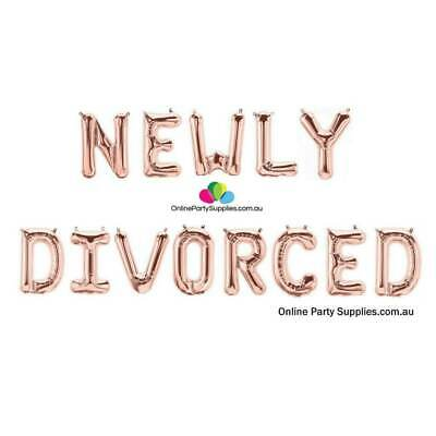 £17.34 • Buy 16  Rose Gold 'NEWLY DIVORCED' Party Foil Balloon Banner Decorations Celebration