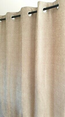 Next Natural Heavyweight Chenille Eyelet Curtains 168x183cms(66x72 )rrp£85 • 39.99£