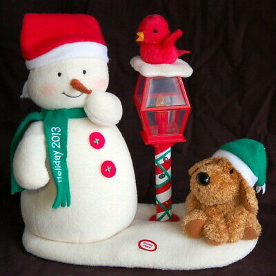 $29.95 • Buy Hallmark JINGLE PALS ~ Snowman / Lamp Post ~ 2013 ~ Clean And Working