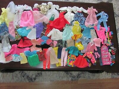 $ CDN52.92 • Buy Large Lot Of Vintage Barbie Clothes Mostly Barbie & Accessories