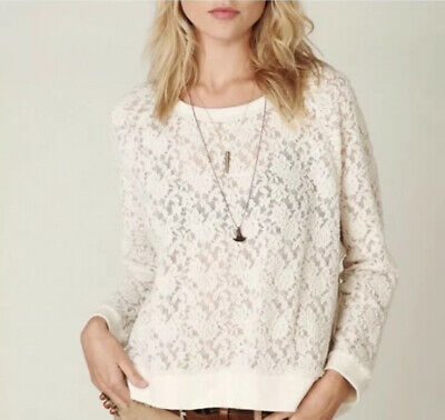 $ CDN43.75 • Buy Free People White All Over Lace Pullover Xs ASO Violet Harmon AHS