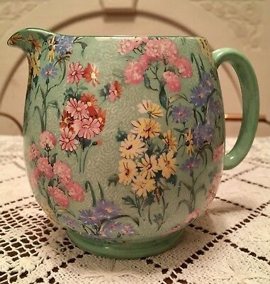 Vintage XLarge Chintz Shelley Melody Jug 11cms X 14cms (4.3 Inches X 5.5 Inches) • 70£