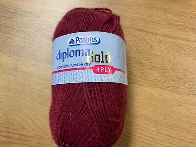 *CLEARANCE SALE* PATONS DIPLOMA GOLD  4ply 50g( Wine Shade 4129 Lot 2523801 )  • 3£
