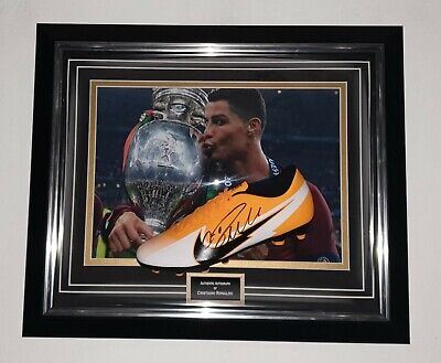 New Cristiano Ronaldo Signed Boot Autographed Portugal Dome Display • 395£