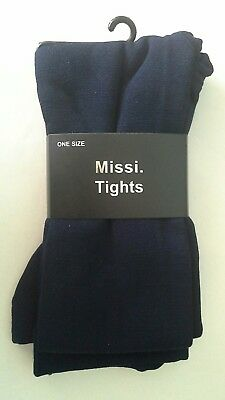 Missi Navy One Size Tights (70 To 100 Den ). (new). • 4.99£