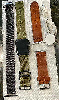 $ CDN197.52 • Buy Apple Watch Series 3 42 Mm Black Stainless Steel Case/Milanese Band/GPS+Cellular