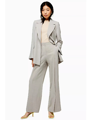 Brand New Ex Topshop Wide Leg Trouser And Slouch Blazer Jacket Suit With Linen • 29.95£