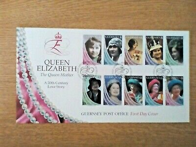X.....Guernsey Post Office Stamps First Day Cover The Queen Mother 1999 Fdc • 1.75£
