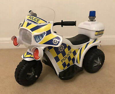 Ride On Motorbike Police Bike Ride-On Electric Motorcycle Kids 6V Battery Toy • 15£