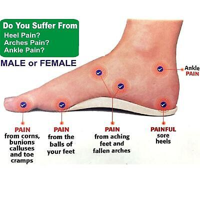 Orthotic Foot Support Insole Flat Feet Heels Arches Pain Relief For Women Ladies • 2.49£