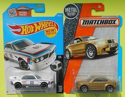 $6.92 • Buy Hot Wheels BMW 1973 3.0 CSL Racer & Matchbox BMW 1M  -Ships Free