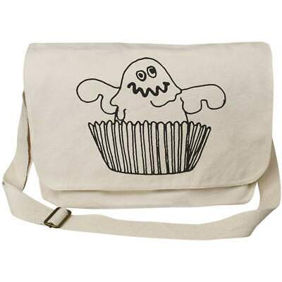 'Ghost Cupcake' Cotton Canvas Messenger Bags (MS020333) • 14.99£