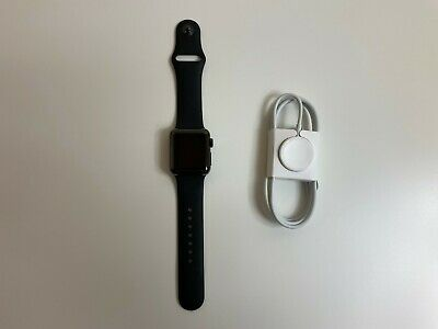 $ CDN165.71 • Buy Apple Watch Series 2 38mm Aluminum Case Black Sport Band With S/M Band