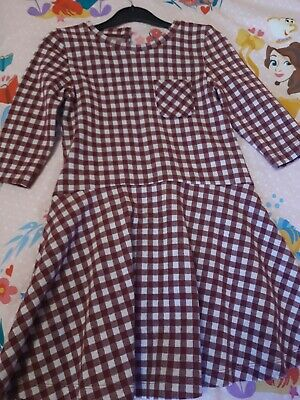 Girls Checked Dress Dunnes Age 7 • 1£
