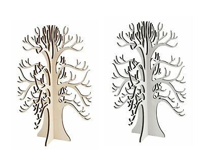 Plywood Wishing Tree X 35cm Easter Wedding Table Centrepiece - Natural Or White • 7.25£