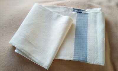 French Vintage Striped Tablecloth Cloth • 12.75£
