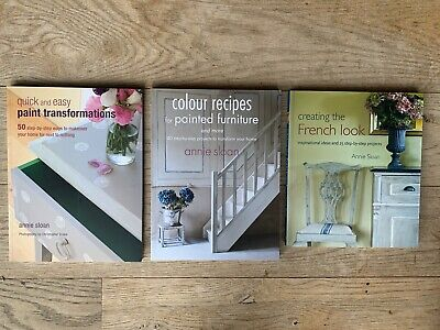 RRP £43 Annie Sloan Books X 3 French Look Paint Transformations Colour Recipes • 14.99£