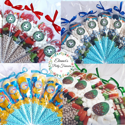 £1.25 • Buy Pre Filled Boys Sweet Cones Party Bags - Personalised Sticker Any Theme Boys