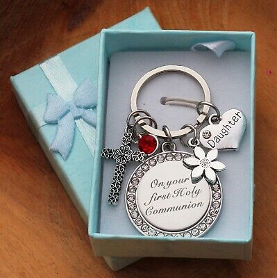 FIRST HOLY COMMUNION Gift Keyring - Daughter, Son, Friend, Niece,Goddaughter  • 4.99£