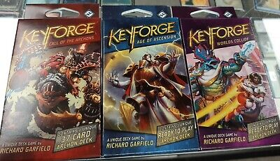 $ CDN12 • Buy Keyforge Sets Decks 3 Call Of The Archons, Age Of Ascension, Worlds Collide Ffg