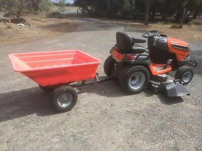AU5700 • Buy Husqvarna TS352 Ride On Mower. Only 11 Hours Use. Includes Husqvarna Trailer