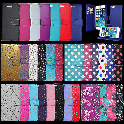 £3.96 • Buy For Apple Iphone Se Wallet Book Open Flip Phone Case Cover With Magnetic Closer