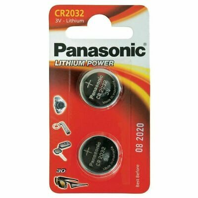2x Panasonic CR2032 Lithium Coin Cell 3V Battery Car Key Fobs Toys Remote Cell • 2.49£