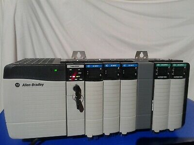 $300 • Buy Allen Bradley Control Logix 7card Rack:(1)5550 Processor(3)dc In(2)dc Out 16pts