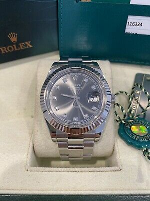 AU15249 • Buy Rolex 116334 Datejust Ii 41 Rhodium Diamond Dial