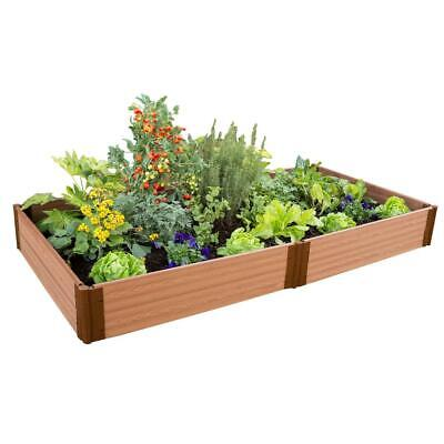 Frame It All Raised Garden Bed 4 Ft. X 8 Ft. X 11 In. Tool-Free Classic Sienna • 176.74£