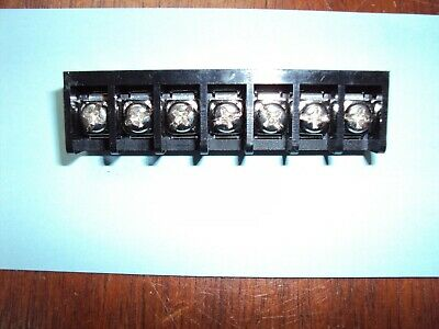 $2.25 • Buy 7-Position PCB Mount Single Row Barrier Terminal Block  9.525mm/0.375  Pitch Nos